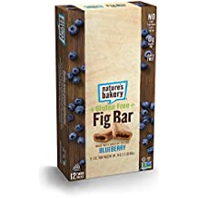 Nature's Bakery Gluten Free + non-GMO + Vegan, Fig Bars, Blueberry (12 Count)