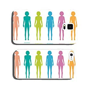 female body types anatomy,woman front figure shape, vector cell phone cover case Samsung S6