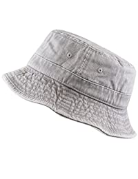 THE HAT DEPOT 300N 100% Cotton Packable Pigment Washed Cotton Bucket Hat ee3842d04c29