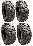 Full set of STI Roctane XD Radial (8ply) 25x8R-12 and 25x10R-12 ATV Tires (4)