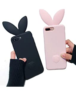 reputable site a3ca4 12113 Amazon.com: iPhone 6 Case,Cute Lovely Rabbit Silicone Bunny Case ...