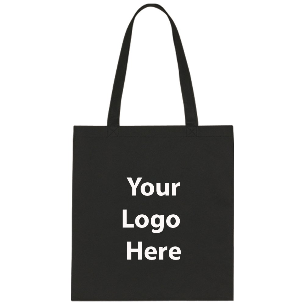 "Economy Tote Bag - 100 Quantity - $1.25 Each - PROMOTIONAL PRODUCT / BULK / BRANDED with YOUR LOGO / CUSTOMIZED Size: 13-1/2""W x 14""H by Sunrise Identity"