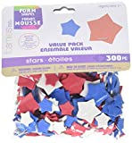 Darice Patriotic Stars-Red, White, Blue Foamies Shapes
