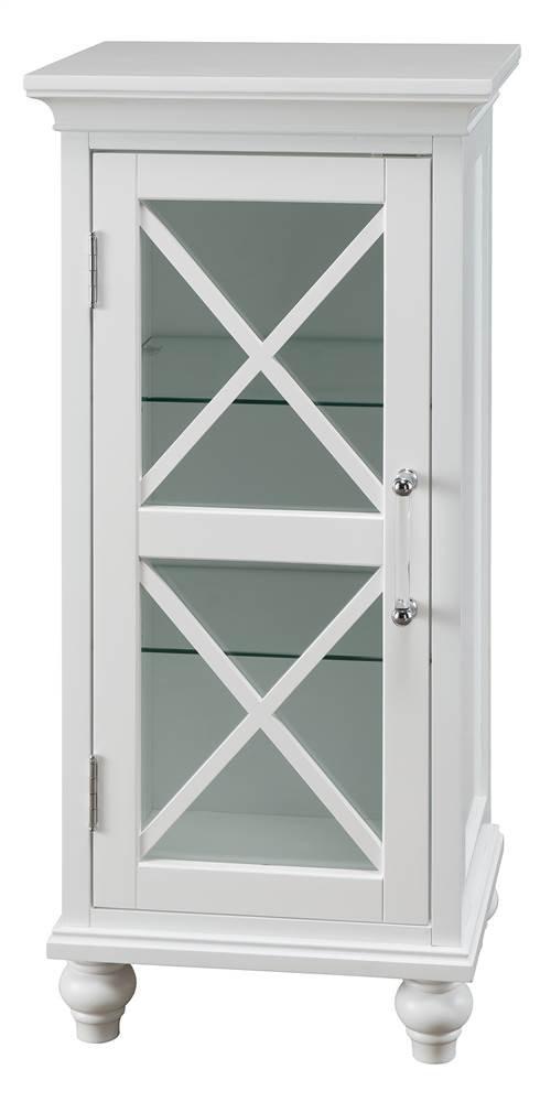 Blue Ridge 1-Door Floor Cabinet in White