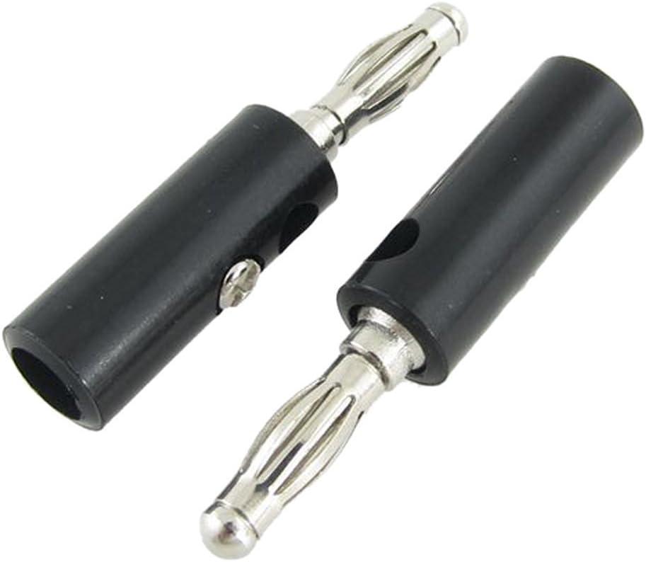 Wiwaplex 10 Pairs Audio Speaker Wire Cable Banana Plugs Screw Type Connectors 4mm