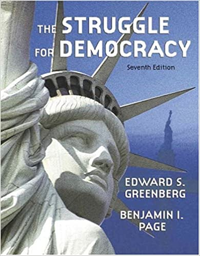 The struggle for democracy 7th edition edward s greenberg the struggle for democracy 7th edition edward s greenberg benjamin i page 9780321217387 amazon books fandeluxe Gallery