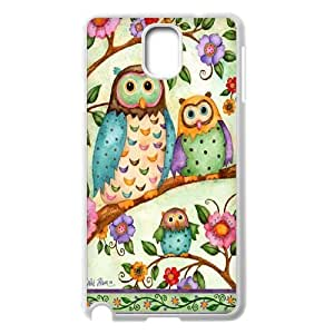 Fggcc Colorful Owl Pattern Phone Case for Samsung Galaxy Note 3 N9000,Colorful Owl Note3 Case (pattern 13)