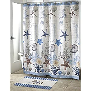 51080ZQ-5aL._SS300_ 200+ Beach Shower Curtains and Nautical Shower Curtains