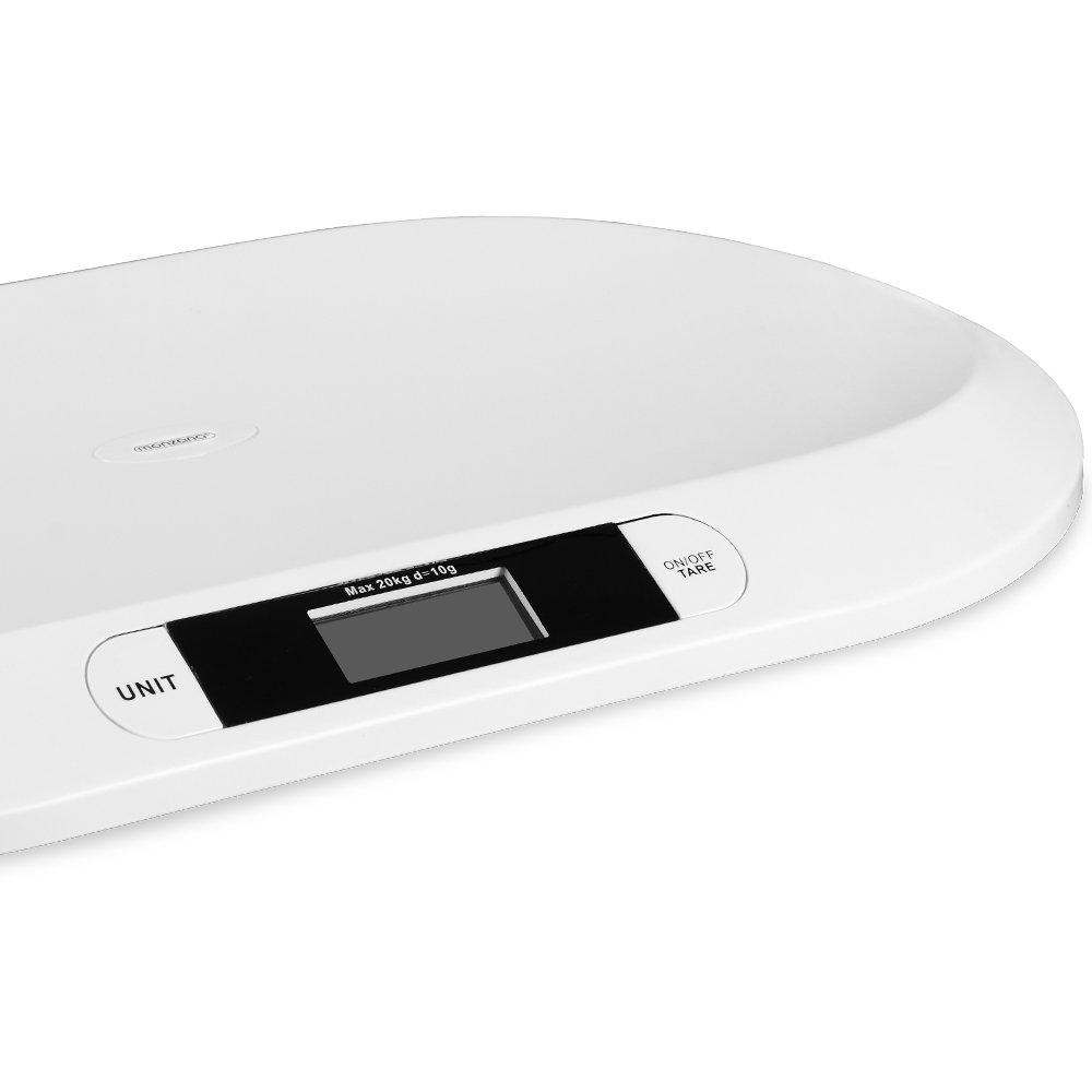55 x 32 x 4 cm Pantalla LED Monzana/® B/áscula de beb/é Control de peso 20 kg +//-10g 2 pilas AAA B/áscula para animales peque/ños |
