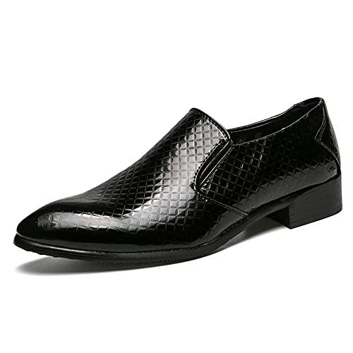 ea40b864faf2cf HILOTU Herren Business Müßiggänger Casual Persönlichkeit Prince Leder  Formelle Schuhe Komfortable weiche Sohle Halbschuhe (Color