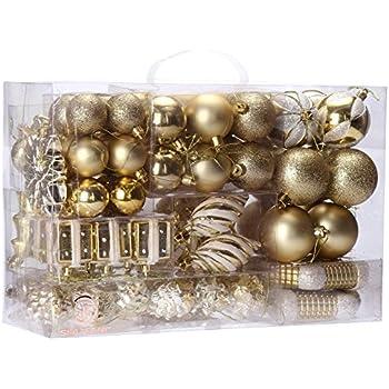 Amazon.com: KIStore Shatterproof 4-Finish Christmas Balls ...