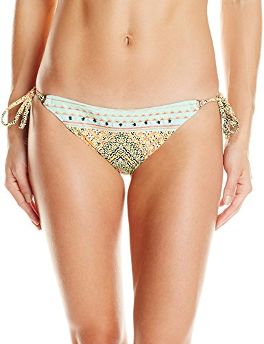 Nanette Lepore Women's Side Tie Hipster Bikini Swimsuit Bottom, Multi/Paso Robles, X-Small