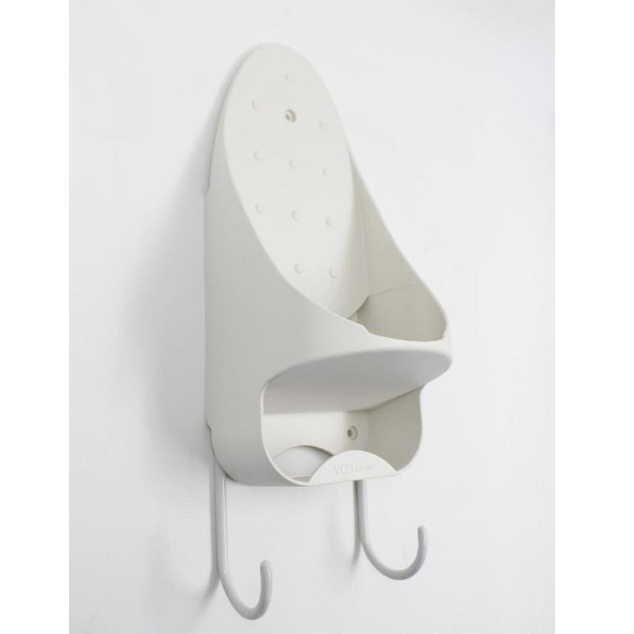 Fun life Holds iron and ironing board cord hanger heat resistant wall mounted holder hooks-White