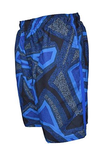 Nike Men's Volley 9 Inch Drift Aweigh Swim Trunks (Medium, Multi Blue/Grey)