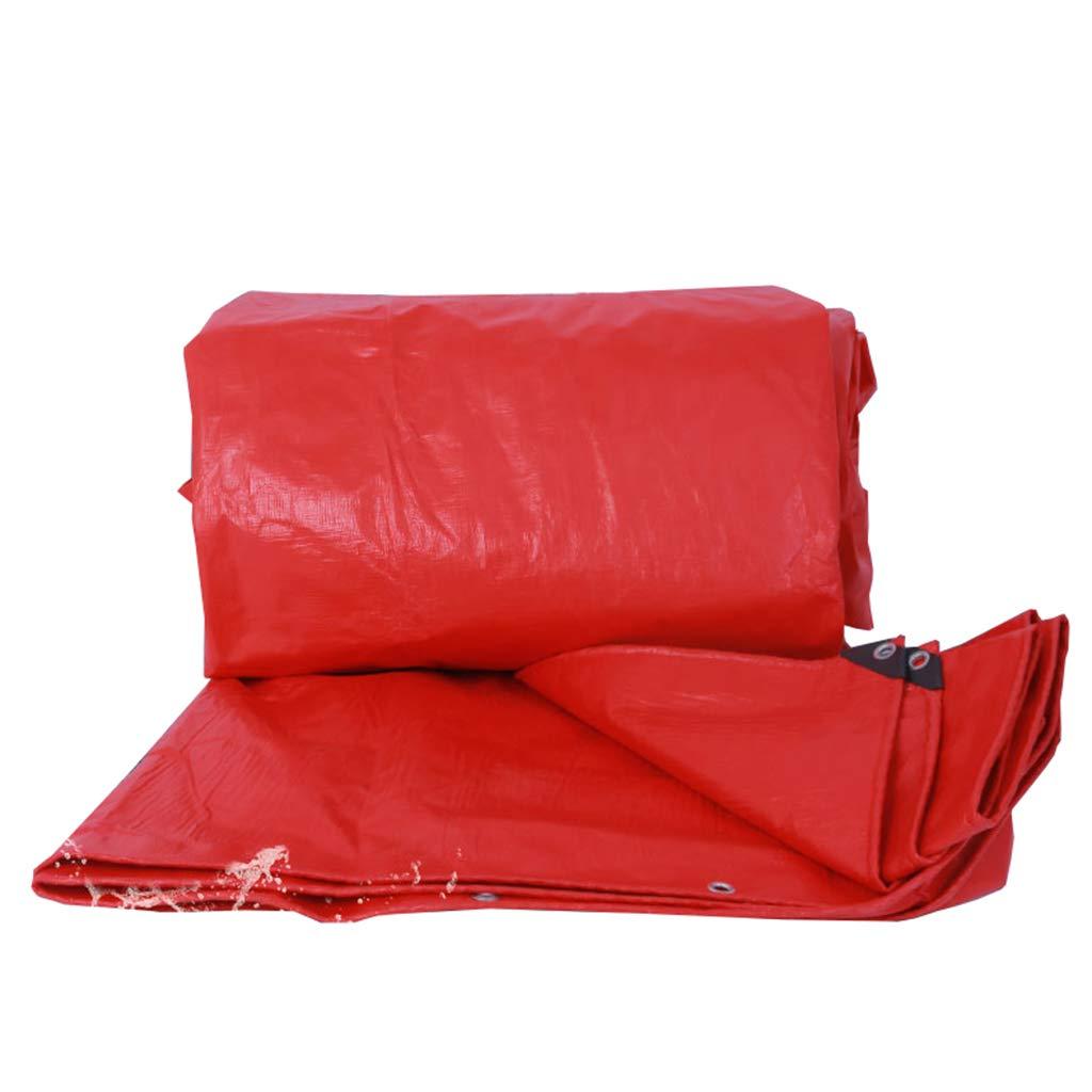Épais Extérieur BÂche Rouge Imperméable Crème Solaire Auvent d'ombre Toile de linoléum Toile de Prougeection pour auvents avec Oeillets  4MX6M