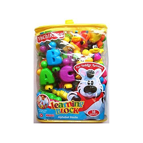 Shop  amp; Shoppee English Learning Blocks for Kids with Cartoon Figures  Multicolor
