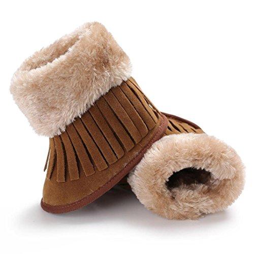 ... SYY 0-2 Jahre alt Baby Quasten Weiche Sohle Schneeschuhe Weiche Krippe  Schuhe Kleinkind Stiefel