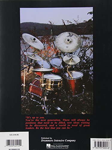 """Picture of the back cover of the drum book """"The New Breed 2"""" by Gary Chester and Chris Adams"""