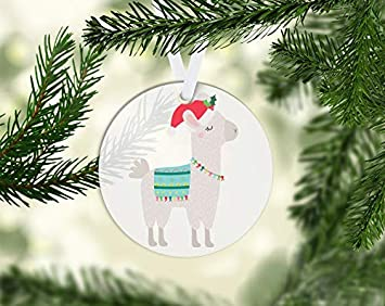 Llama Christmas Decorations.Amazon Com Christmas Llama 003 Acrylic Christmas Ornament 3