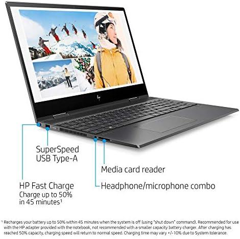 Flagship 2021 HP Envy 15 x360 2 in 1 Laptop 15.6″ Diagonal FHD IPS Touchscreen Display AMD 6-Core Ryzen 5 4500U 32GB RAM 512GB SSD Fingerprint Backlit Wifi6 USB-C HDMI B&O Win10 + iCarp Pen 51082NdRtvL
