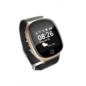 MYJ Teléfono de Reloj de posicionamiento de Ancianos Que Mide la frecuencia cardíaca de la presión Arterial Reloj Anti-perdida Reloj de posicionamiento ...
