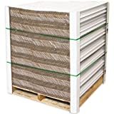Aviditi EP2248120BX Cased Edge Protector, 48'' Length x 2'' Width x 2'' Height, 0.120'' Thick, White (Case of 100)