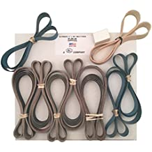 1x30 Ultimate Belt Pack - 5 each of 8 Grits + Leather Strop Belt Made in USA by Pro Sharpening Supplies