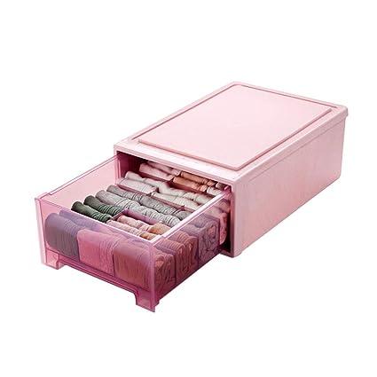 SNHZAB Cajas de Almacenamiento - Caja de Almacenamiento de plástico con cajones, Caja de Almacenamiento