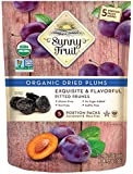 ORGANIC Prunes - Sunny Fruit - (5) 1.06oz Portion Packs per Bag | Purely Dried Plums - NO Added Sugars, Sulfurs or…