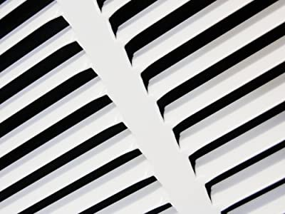 "24""w X 16""h Steel Return Air Grilles - Sidewall and Ceiling - HVAC DUCT COVER - White [Outer Dimensions: 25.75""w X 17.75""h]"