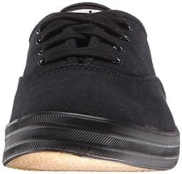 Keds Women\'s Champion Original Canvas Sneaker, Black/Black,8.5 M US