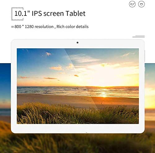 Tablet 10.1 Inch Android 9.0 3G Phone Tablets with 32GB ROM Dual Sim Card 2MP+ 5MP Camera, WiFi, Bluetooth, GPS, Quad Core, HD Touchscreen, Support 3G Phone Call(Silver) 51083X2 2BcCL