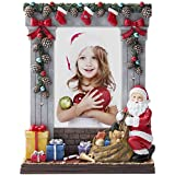 "4"" x 6"" Light Up Christmas Picture Frame with Santa Claus"