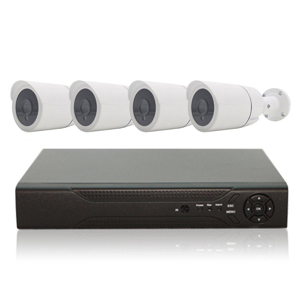 防犯カメラセット 監視カメラ 248万画素 AHD 防犯カメラ4台+AHD録画対応 4TB HDDレコーダー セット 屋外 防水 暗視 遠隔監視 HD ハイビジョン (カメラ4台+4TBレコーダーセット) B06WGVMKC2 カメラ4台+4TBレコーダーセット カメラ4台+4TBレコーダーセット