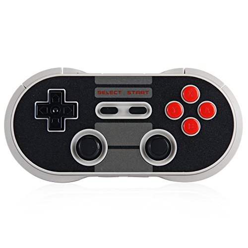 8Bitdo N30 Pro Wireless Bluetooth Controller Dual Classic Joystick for iOS Android Gamepad PC Mac Linux(Black) ()
