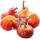 Factory Direct Craft Package of 7 Faux Pumpkins and Gourds for Halloween, Fall and Thanksgiving Decorating