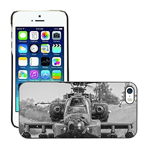 Premio Sottile Slim Cassa Custodia Case Cover Shell // V00001621 hélicoptère apache // Apple iPhone 5 5S 5G