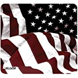 American Flag Mouse Pad, Non Skid ( 100 PACK ) BY NETCNA