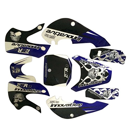 WPHMOTO Dirt Bike Stickers Motorcycle Sticker Decals For Kawasaki KLX Plastic Fenders Fairing Kit Body Parts (Blue)