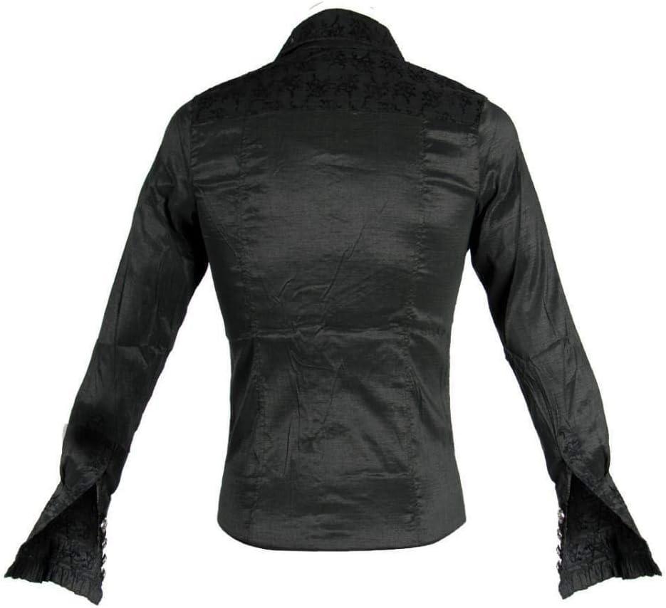 blusa de brocado de estilo victoriano con chorrera S: Amazon.es: Juguetes y juegos