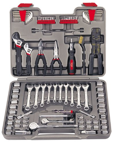 Apollo Tools DT1241 95-Piece Mechanics Tool Kit (Auto Kit Emergency Tool)