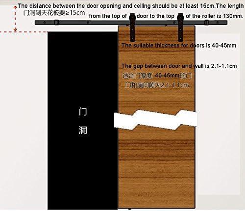 DIYHD 6ft Puerta de granero corredera estilo rústico americano puerta de granero corredera de madera para armario puerta granero herraje colgadocon guía rodamientos deslizantes (6ft-Riel de deslizamiento): Amazon.es: Bricolaje y herramientas
