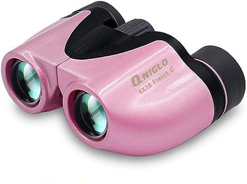 QNIGLO Binoculars for Kids Compact Shock Proof 6×18 Kids Binoculars High Resolution for Bird Watching Hunting