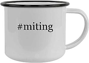 #miting - 12oz Hashtag Camping Mug Stainless Steel, Black