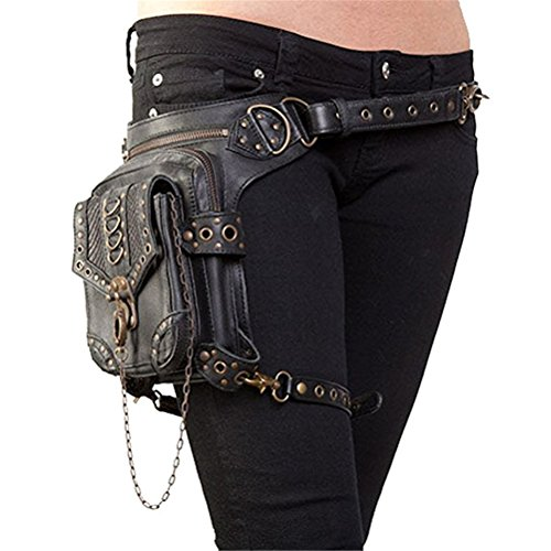 (Halloween Steampunk Retro Motorcycle Bag Lady Bag Retro Rock Gothic Goth Shoulder Waist Bags Packs)