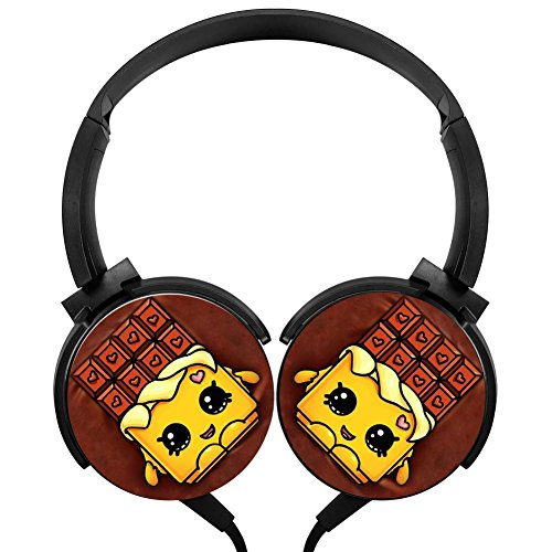 Chocolate Stereo Overear Heavy Bass Portable Wire Microphone mp3 Tablet PC Video Game - Chocolate Petty