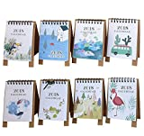 8 PCS Mini 2018 Desktop Paper Calendar Daily Scheduler Table Planner Yearly Agenda Organizer