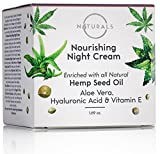 O Naturals Organic Hemp Seed Oil Anti-Aging Night Cream for Face & Neck. Moisturizes, Nourishes & Repairs Skin While Sleeping. Enriched with Hyaluronic Acid, Shea Butter & Vitamin E. 1.69 oz. For Sale