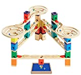 Hape - Quadrilla - Vertigo Wooden Marble Run with BONUS Quadrilla - Wooden Marble Run Catcher Tray Add-on