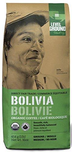 Bolivian Certified Organic Fair Trade Medium Roast Ground Coffee 1 lb 454 g